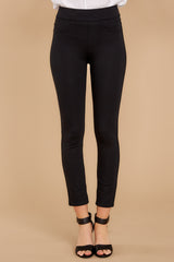 3 Black 4-Pocket Skinny Ponte Pants at reddressboutique.com