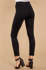 4 Black 4-Pocket Skinny Ponte Pants at reddressboutique.com