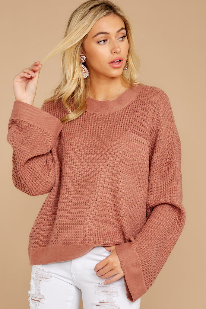 1 Having A Ball Dusty Rose Sweater at reddress.com