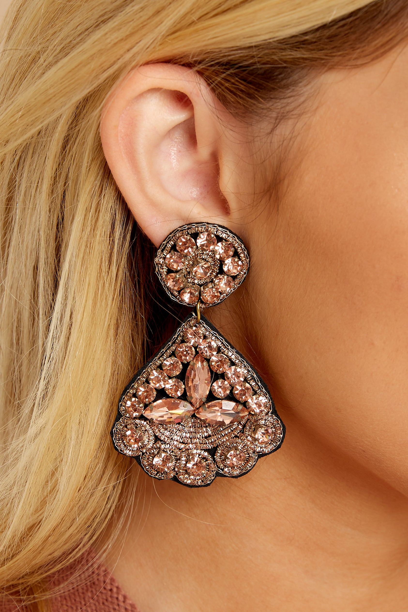 1 Everything You Want Light Pink Earrings at reddressboutique.com