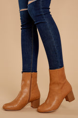 2 Narrow Margin Light Brown Ankle Boots at reddressboutique.com