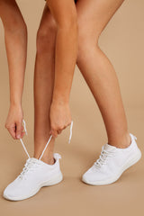 1 Buzz Off White Sneakers at reddressboutique.com