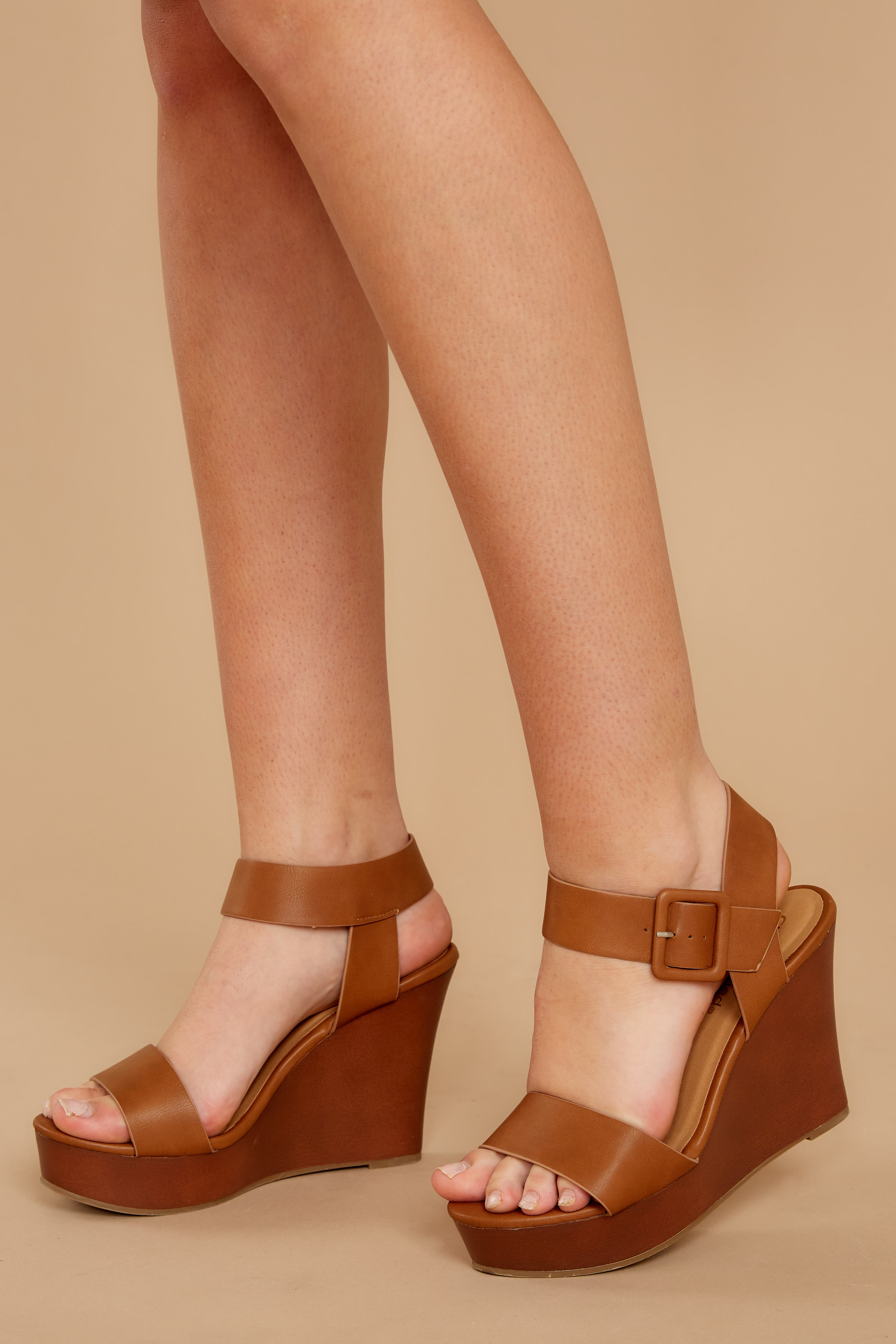 1 Work With It Brown Wedges at reddressboutique.com