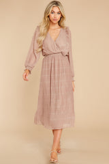 3 Sophisticated Sparkle Taupe Maxi Dress @ reddress.com