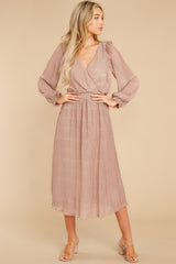 4 Sophisticated Sparkle Taupe Maxi Dress @ reddress.com