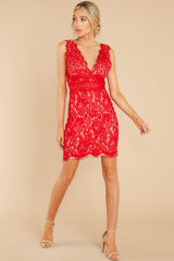 2 Better For It Red Lace Dress at reddress.com