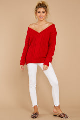 2 As Long As You Love Me Red Sweater at reddress.com