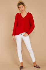 3 As Long As You Love Me Red Sweater at reddressboutique.com