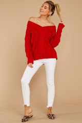 4 As Long As You Love Me Red Sweater at reddressboutique.com