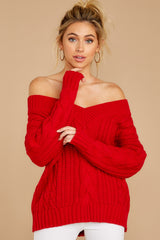 5 As Long As You Love Me Red Sweater at reddressboutique.com