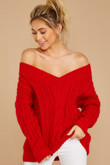 4 As Long As You Love Me Red Sweater at reddress.com