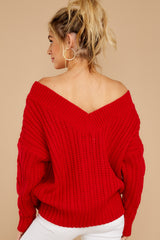 8 As Long As You Love Me Red Sweater at reddress.com