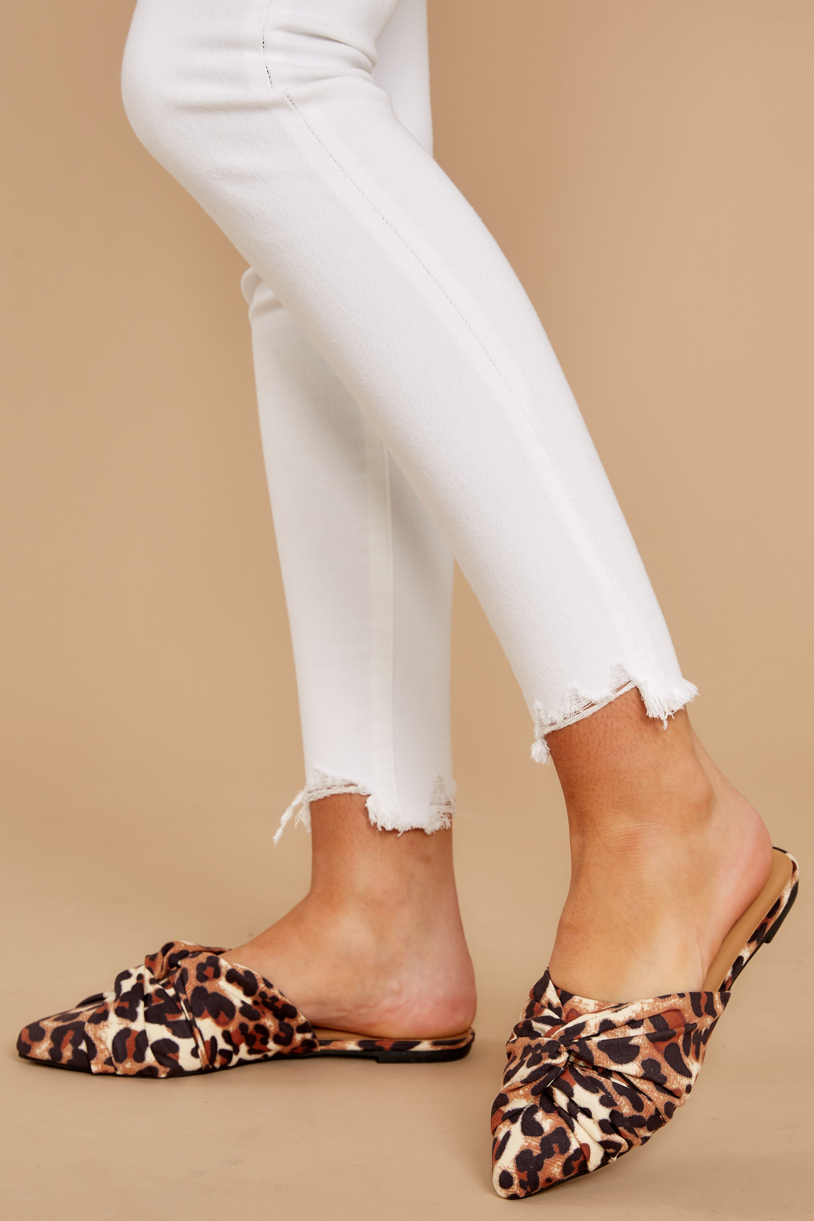 1 Slip On By Leopard Print Mules at reddressboutique.com
