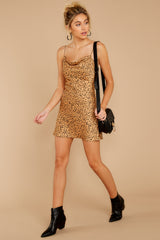 3 Unrivaled Style Tan Cheetah Print Dress at reddressboutique.com