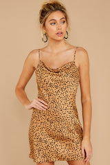 4 Unrivaled Style Tan Cheetah Print Dress at reddressboutique.com