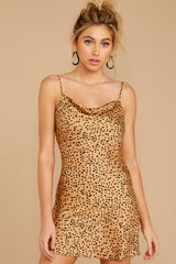6 Unrivaled Style Tan Cheetah Print Dress at reddressboutique.com