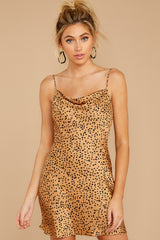 7 Unrivaled Style Tan Cheetah Print Dress at reddressboutique.com