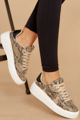 1 Race You There Snake Print Sneakers at reddressboutique.com