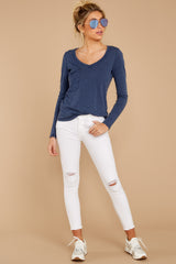 2 The Black Iris Long Sleeve Pocket Tee at reddressboutique.com