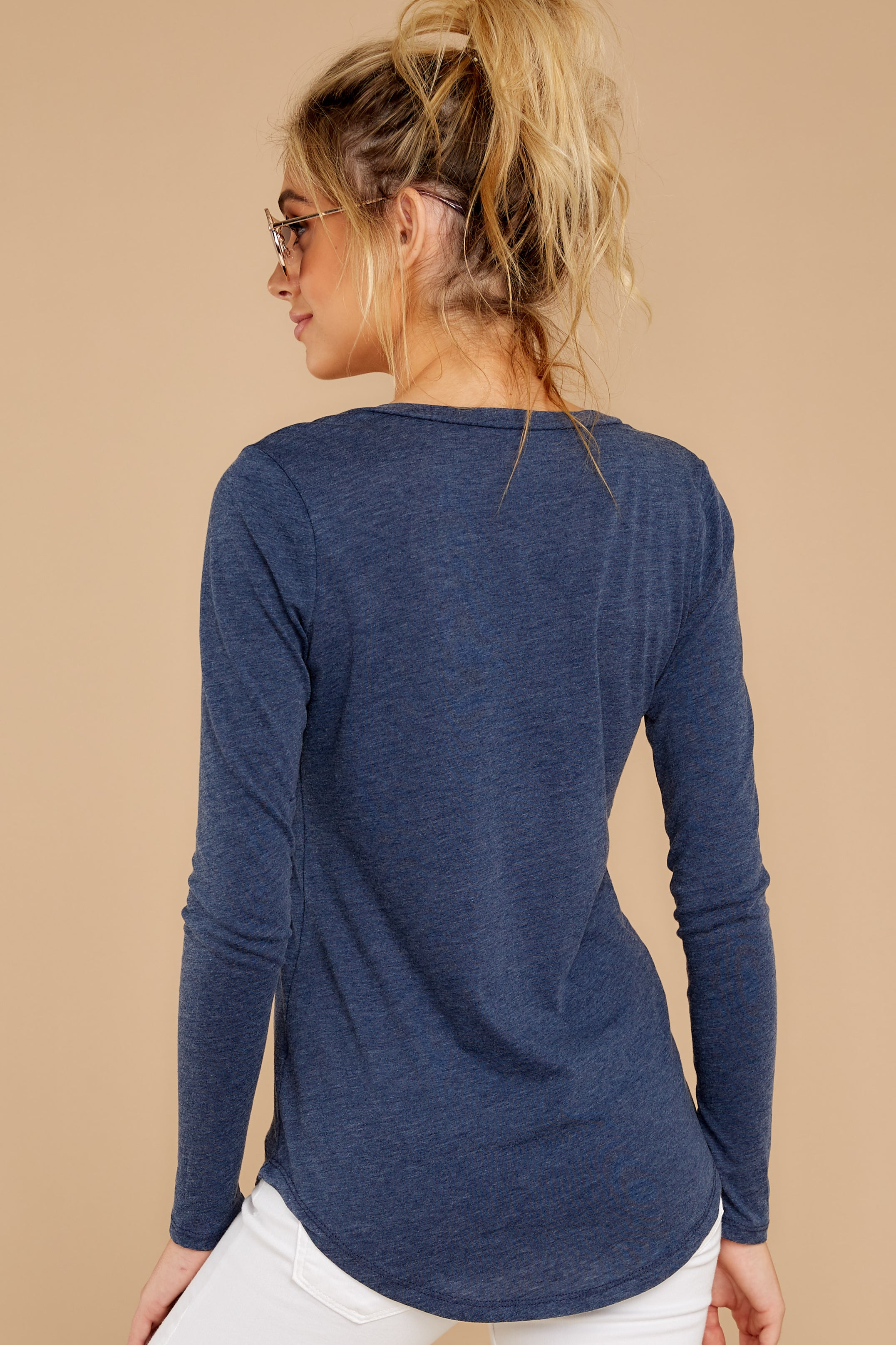 8 The Black Iris Long Sleeve Pocket Tee at reddressboutique.com