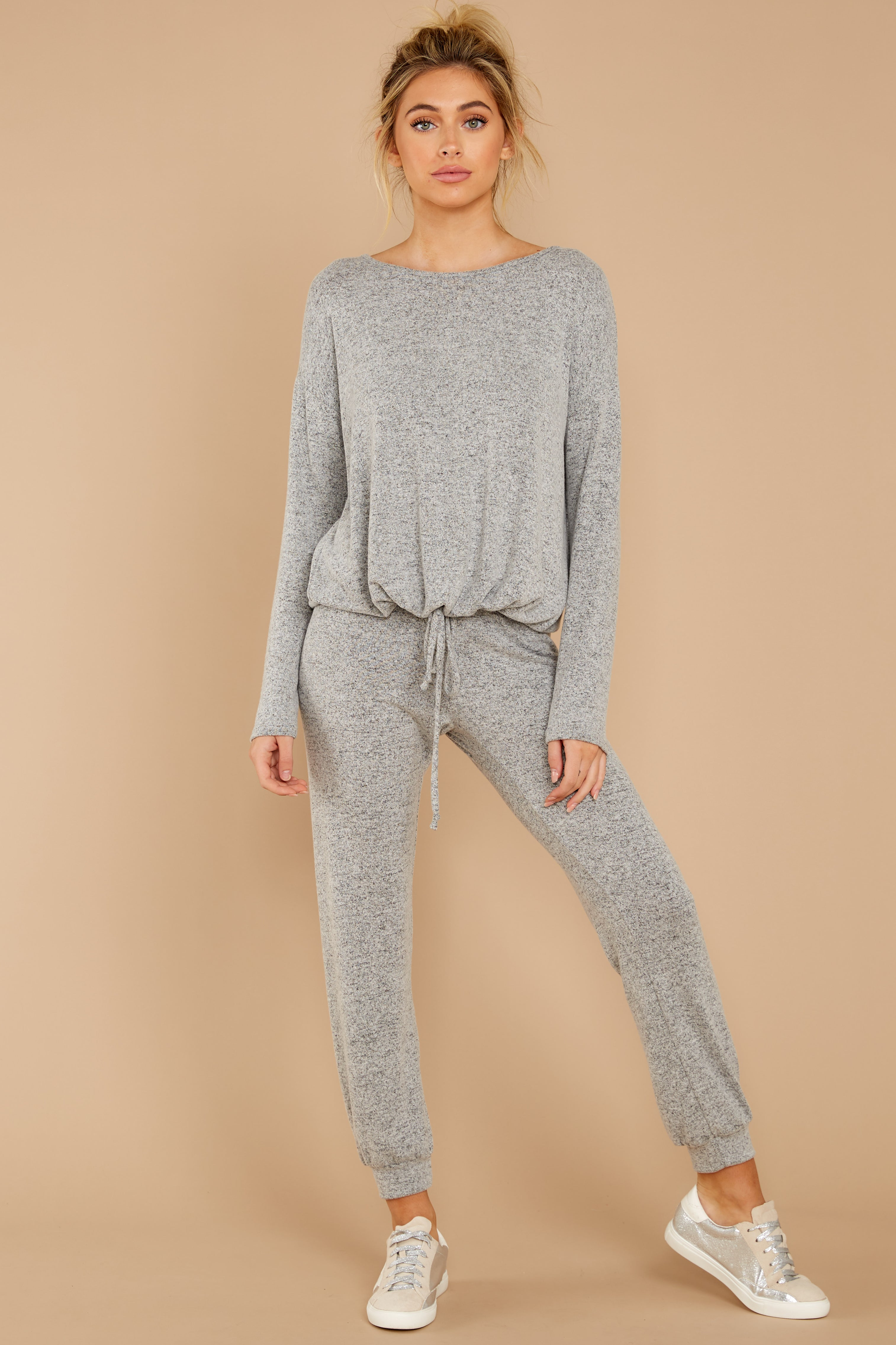 3 Escape To Comfort Heather Grey Pullover at reddress.com