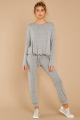 3 Escape To Comfort Heather Grey Pullover at reddressboutique.com