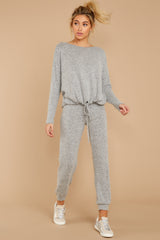 2 Escape To Comfort Heather Grey Pullover at reddressboutique.com