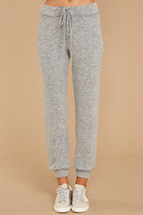 2 Run To Me Heather Grey Joggers at reddressboutique.com