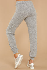 3 Run To Me Heather Grey Joggers at reddressboutique.com