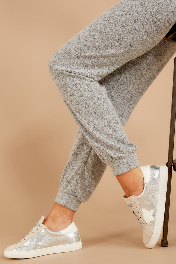 1 Run To Me Heather Grey Joggers at reddressboutique.com
