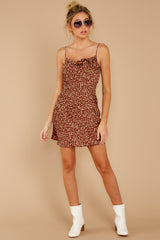 2 Unrivaled Style Mocha Brown Print Dress at reddressboutique.com