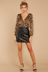 2 Wild About You Leopard Print Bodysuit at reddressboutique.com