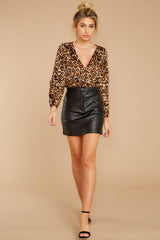 3 Wild About You Leopard Print Bodysuit at reddressboutique.com