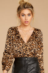 7 Wild About You Leopard Print Bodysuit at reddressboutique.com