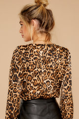 8 Wild About You Leopard Print Bodysuit at reddressboutique.com