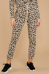 In With The Crowd Leopard Joggers