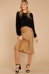 8 Strike A Pose Tan Cheetah Print Skirt at reddressboutique.com