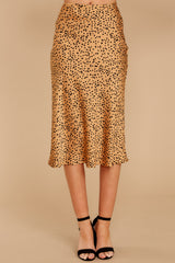 2 Strike A Pose Tan Cheetah Print Skirt at reddressboutique.com