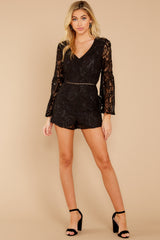 2 Language Of Style Black Lace Romper at reddressboutique.com