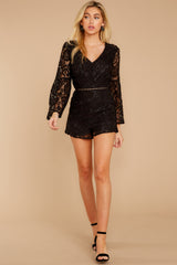 3 Language Of Style Black Lace Romper at reddressboutique.com
