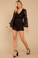 4 Language Of Style Black Lace Romper at reddressboutique.com