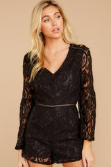 5 Language Of Style Black Lace Romper at reddressboutique.com