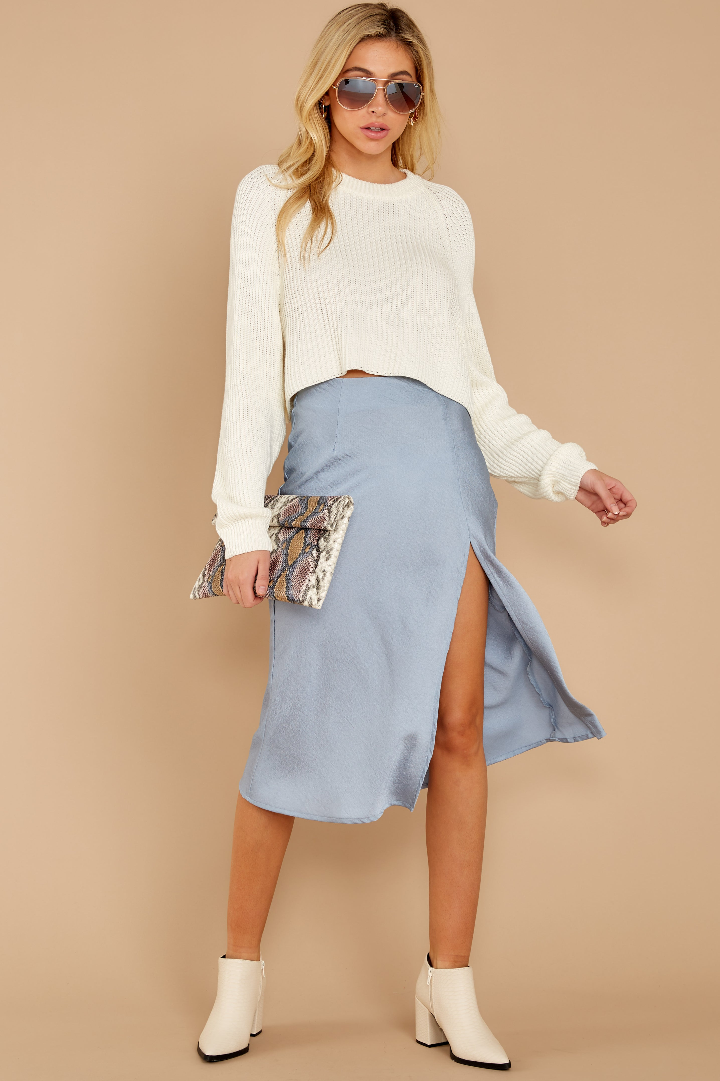 3 Cool With You Light Blue Skirt at reddress.com