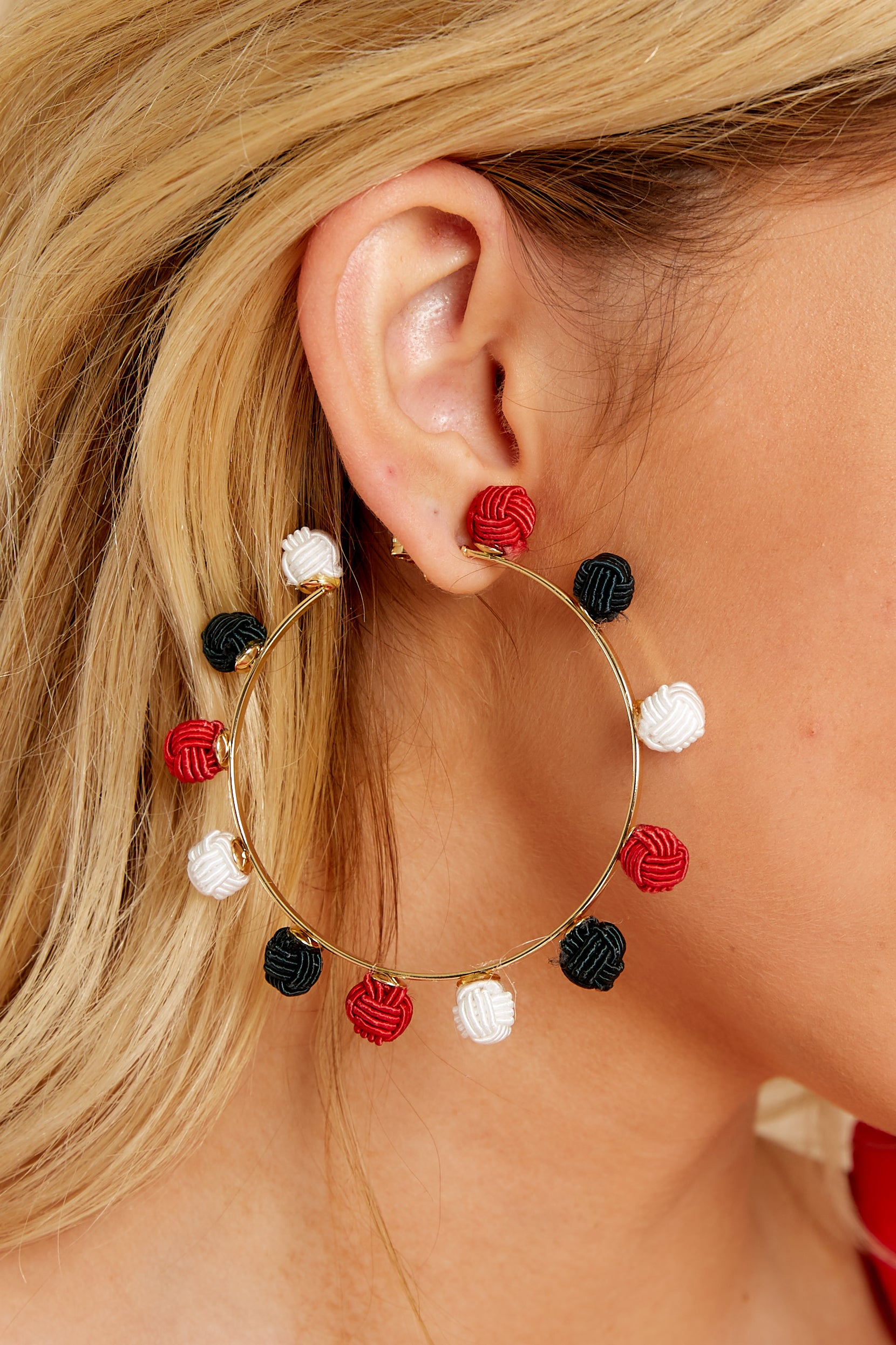 1 Your Big Chance Red Multi Earrings at reddressboutique.com
