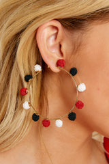 1 Your Big Chance Red Multi Earrings at reddress.com