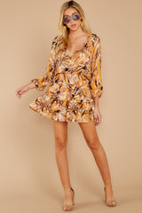 1 Near Your Heart Goldenrod Floral Print Dress at reddressboutique.com