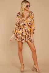 3 Near Your Heart Goldenrod Floral Print Dress at reddressboutique.com