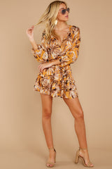4 Near Your Heart Goldenrod Floral Print Dress at reddressboutique.com
