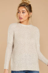 7 Sweet Emotion Oatmeal Sweater at reddressboutique.com