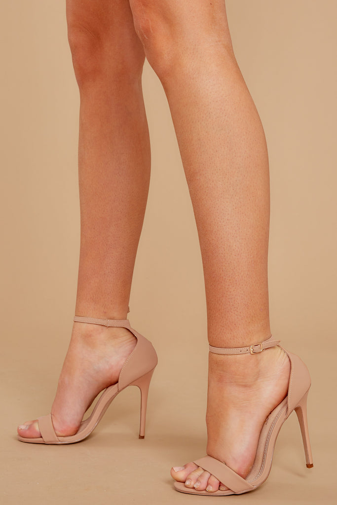1 Legendary Moves Nude Ankle Strap Heels at reddressboutique.com